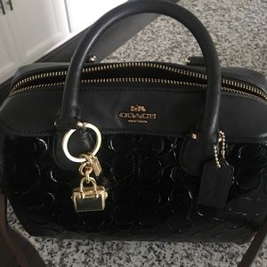 Coach Mini Bennet Satchel-Signature Debosse.